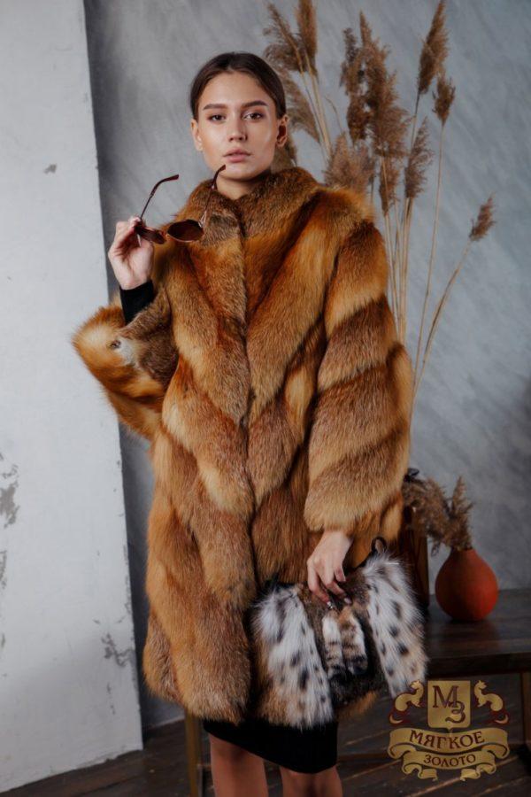 Шуба из меха лисицы огневки Fur Avenue FAC-03