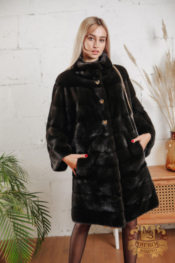 Шуба норковая Меховая мода ОМ 6210