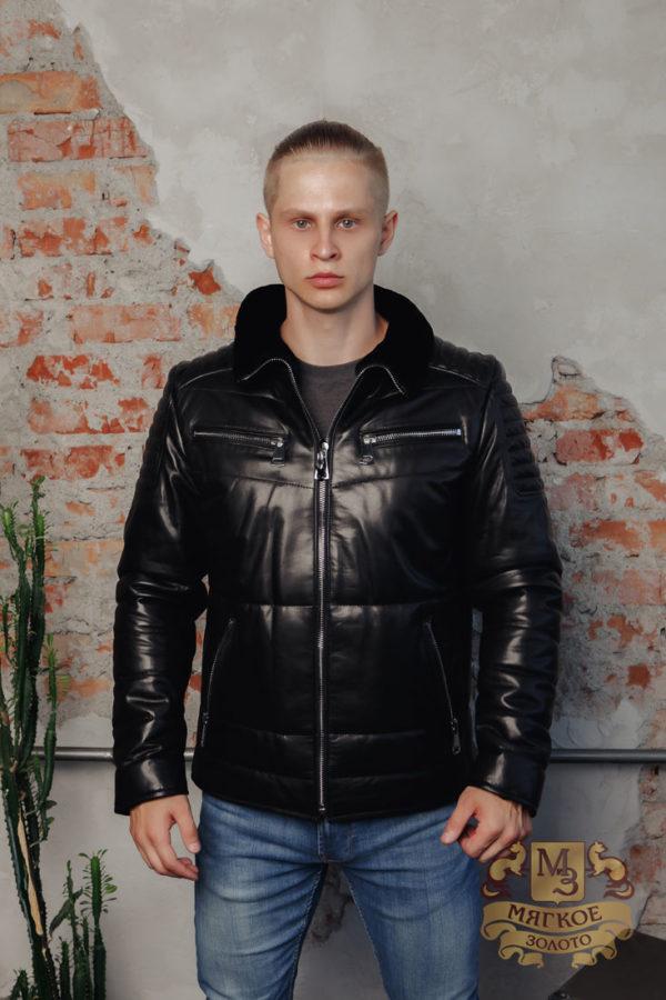 Кожаная куртка 91996 ERKEK PUF