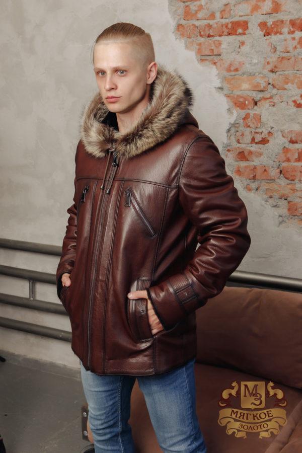 Кожаная куртка мужская 5309 ERKEK ICLIK
