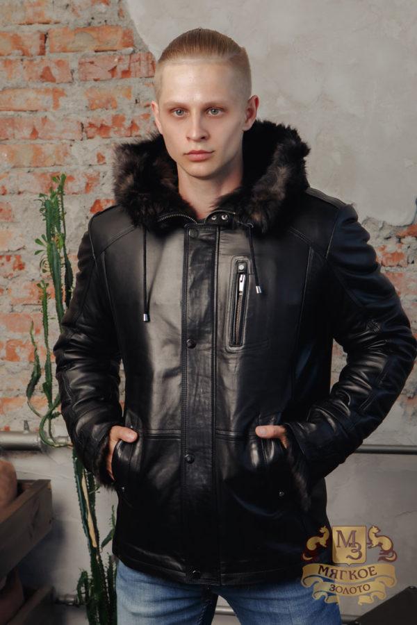Кожаная куртка мужская Steel 5384 MEN COAT