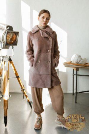 Пальто женское шерстяное из экомеха TORRISS K88211Y