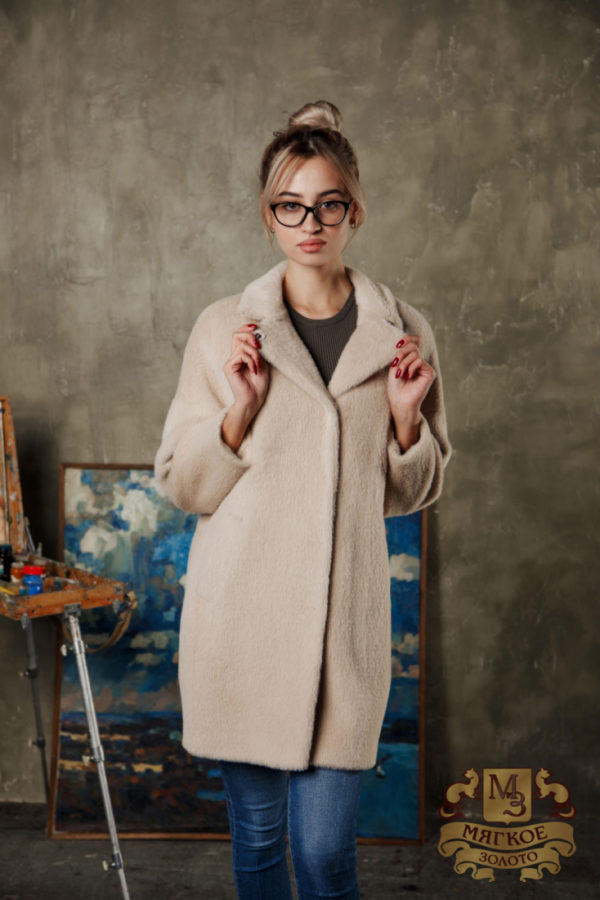 Пальто женское шерстяное из экомеха DM collection Элина