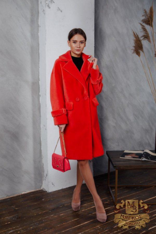 Пальто женское из экомеха SOFIA C-20