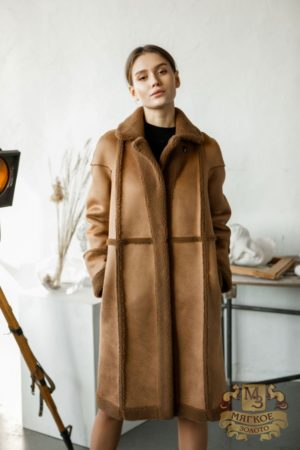 Пальто женское двустороннее с экомехом Simakhov SM49