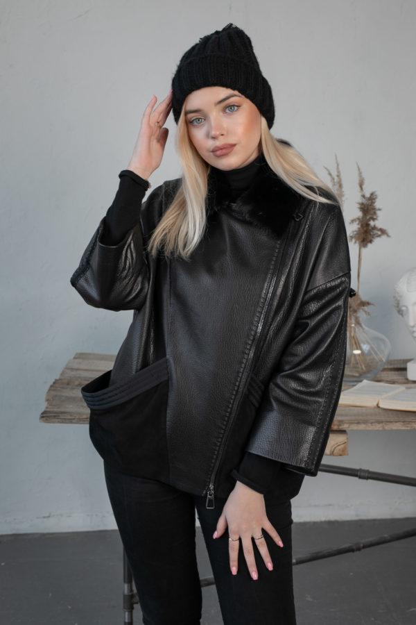 Кожаная куртка Grazza женская