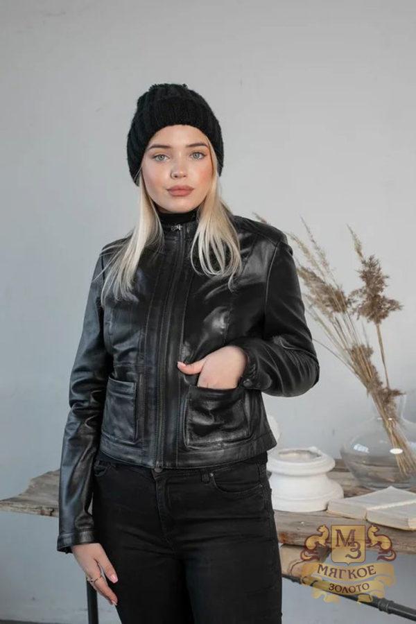 Кожаная куртка женская 1601