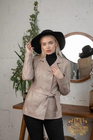 Кожаная куртка женская 1602