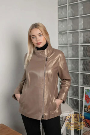 Кожаная куртка женская 1604