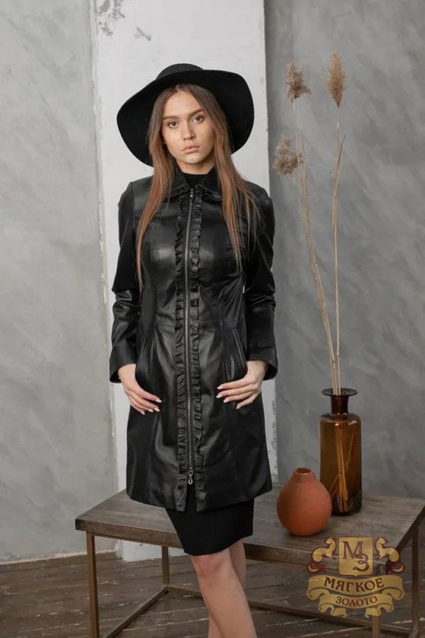 Кожаная куртка женская 1606