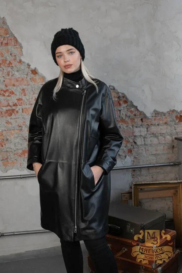 Кожаная куртка женская 1609