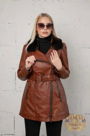 Кожаная куртка женская 1611