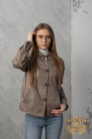 Кожаная куртка женская 1613