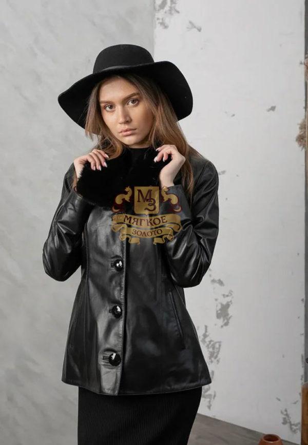 Кожаная куртка женская 1615