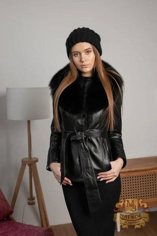 Кожаная куртка женская 1616