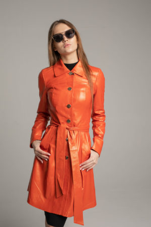 Кожаная куртка Orange женская