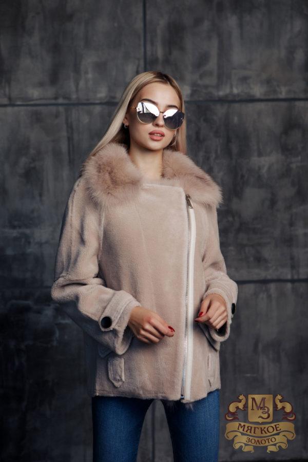 Пальто женское шерстяное с мехом TORRISS AK028-W-F