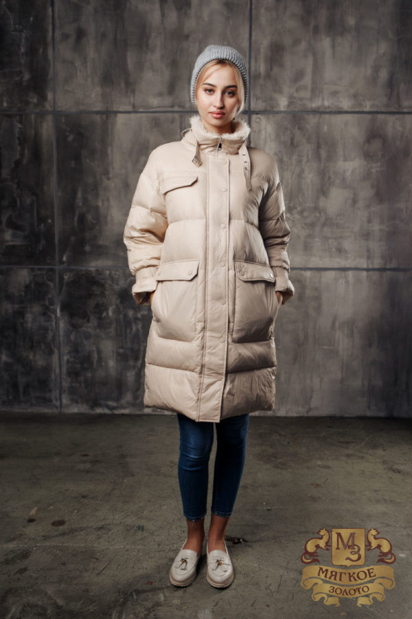Пуховик женский А-29 Furs collection