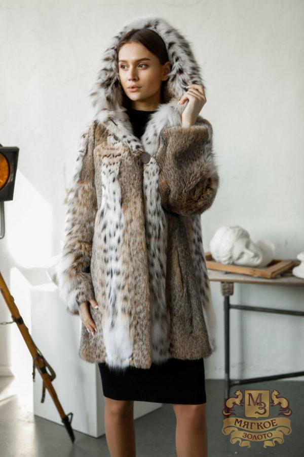 Шуба из рысевидной кошки Меховая мода 357-34
