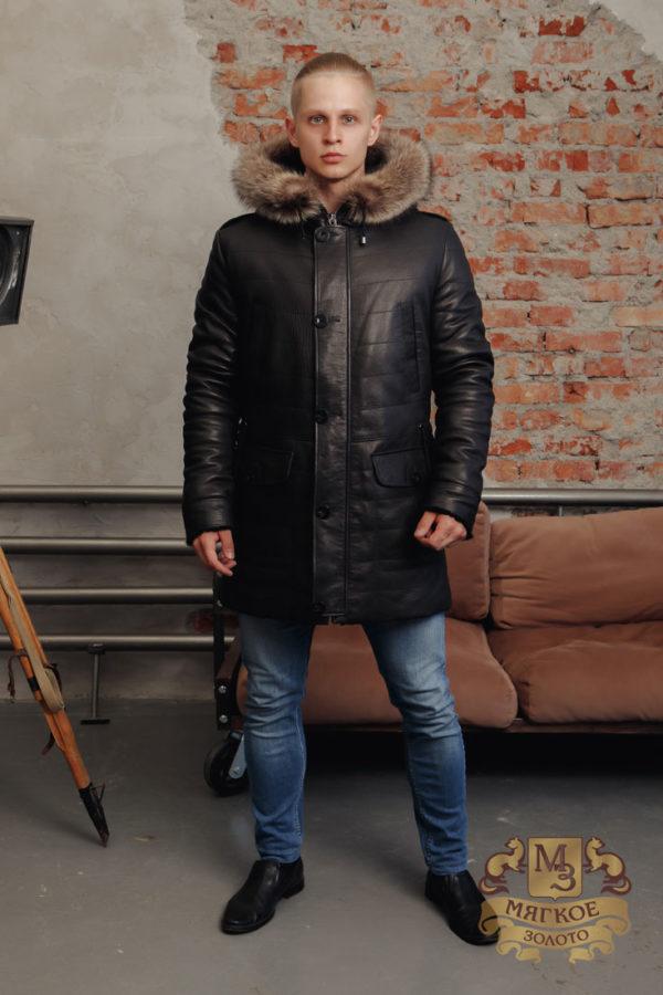 Кожаная куртка мужская Steel 5520 MEN PUF JACKET
