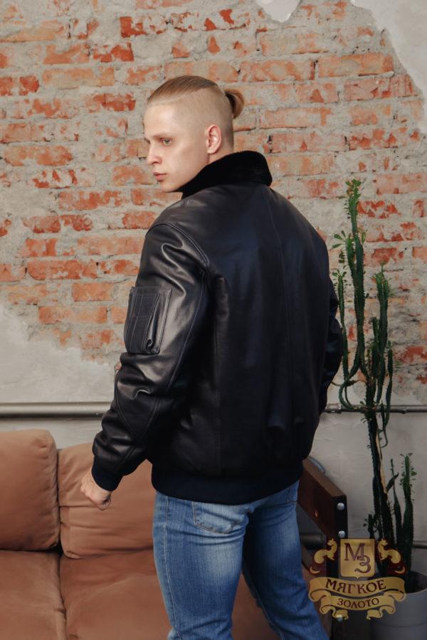 Кожаная куртка мужская Pandas 5321