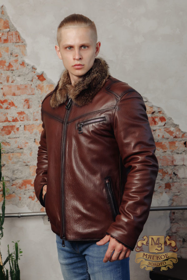 Кожаная куртка мужская 5302 ERKEK ICLIK