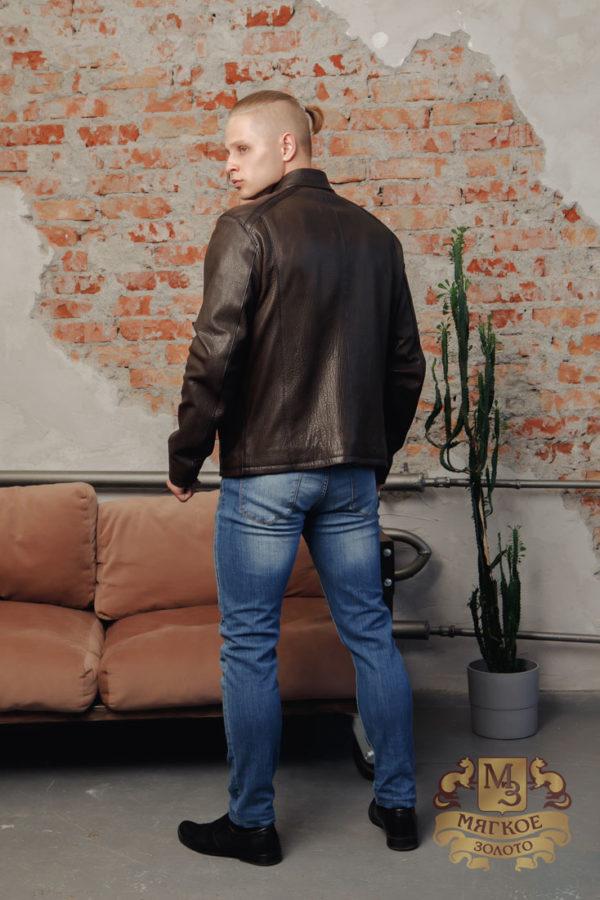 Кожаная куртка мужская коричневая