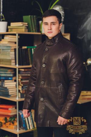 Куртка кожаная Steel с подкладом из овчины