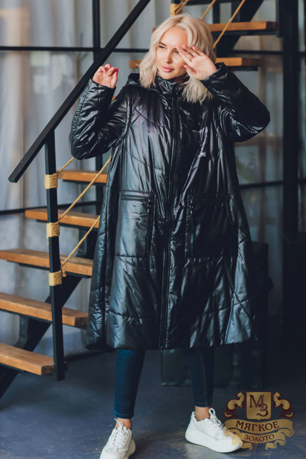 Пуховик женский с капюшоном А 22 2014
