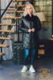 Пуховик зимний кожаный Tony Grazza 4735