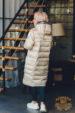 Пуховик женский длинный с капюшоном