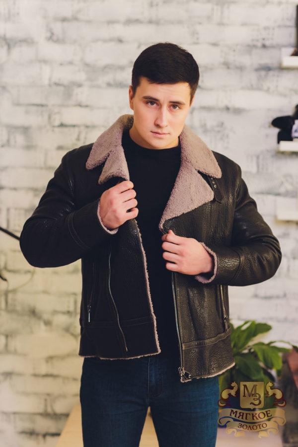 Куртка кожаная с овчиной Viva Dolce Vita