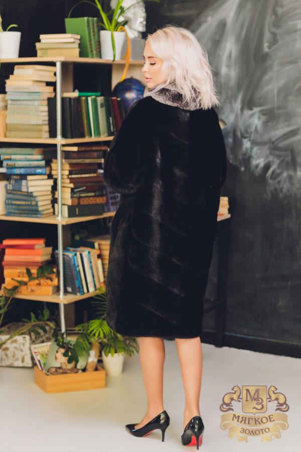 Шуба норковая с отделкой шиншиллой Меховая мода 569