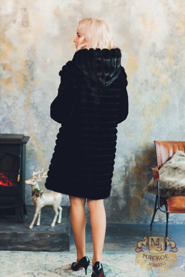 Шуба норковая Лиэль с отделкой овчиной 526-6