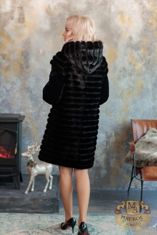 Шуба норковая с отделкой овчиной Лиэль 526-6