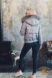 Пуховик женский с отделкой кожей и мехом лисицы Tony Grazza 4801