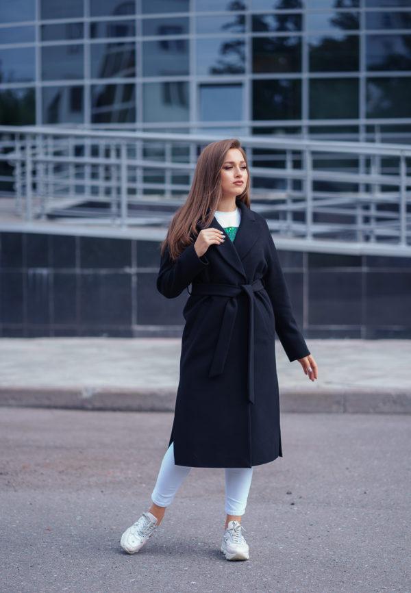 Пальто женское демисезонное 21820 (черный)