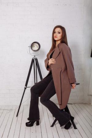 Пальто женское демисезонное 20110 (кофе)