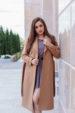 Пальто женское демисезонное 21800 (кэмел)
