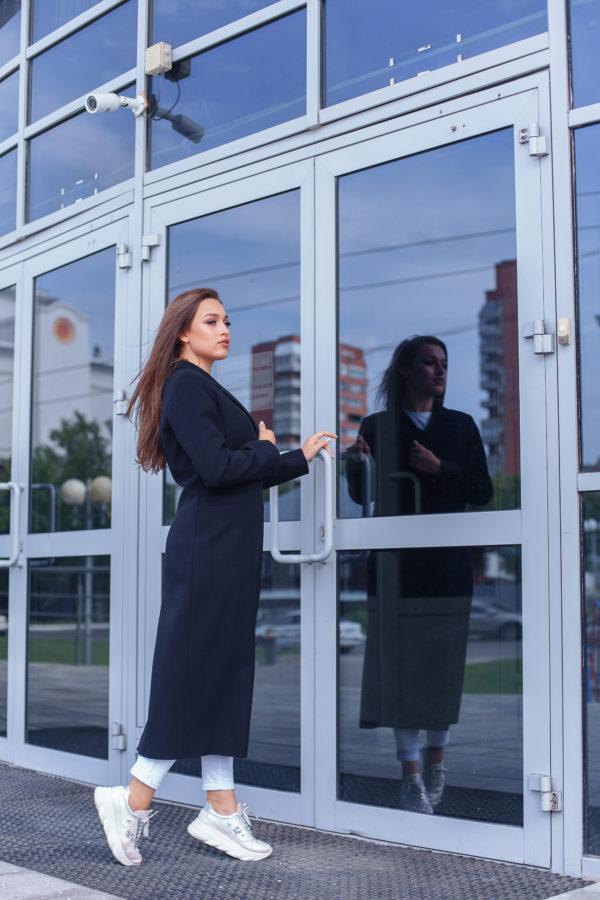 Пальто женское демисезонное 21940 (черный)