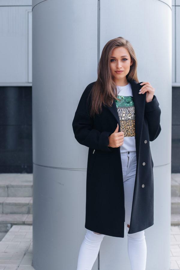 Пальто женское демисезонное 20990 (черный)