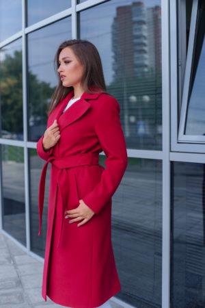 Пальто женское демисезонное 21930 (вино)