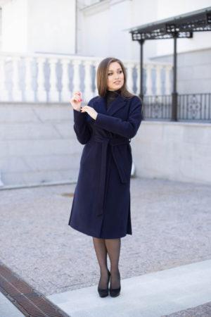 Пальто женское демисезонное 21820 (синий)