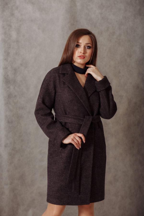 Пальто женское демисезонное 20990 (маренго)