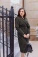 Пальто женское демисезонное 21800 (хаки)