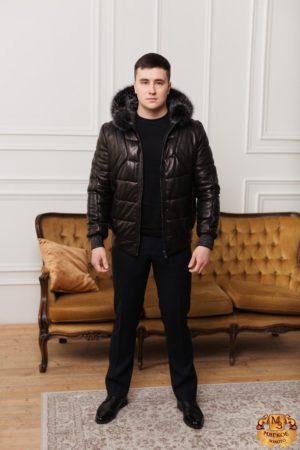 Куртка из овчины с отделкой лисицы Gio Melli F708