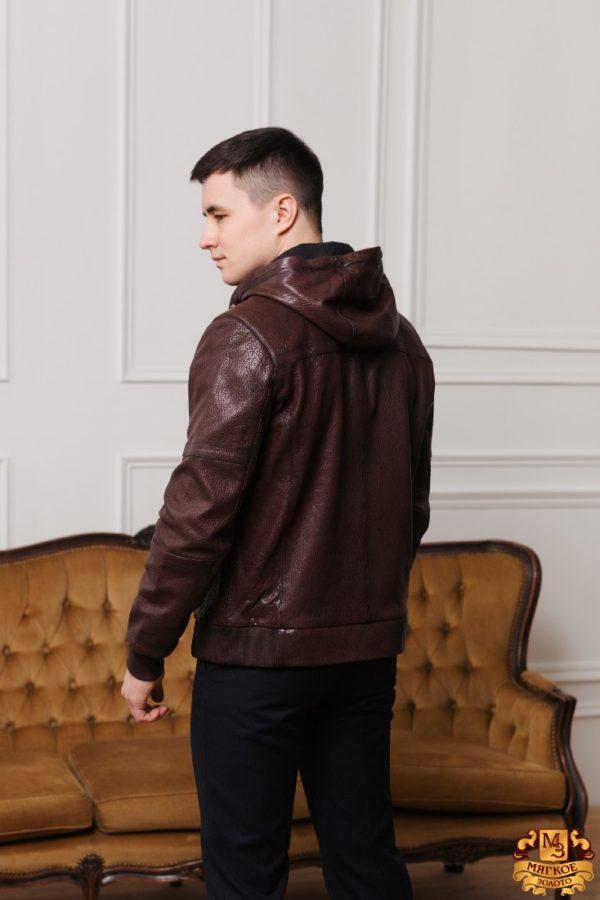 Кожаная куртка коричневая Gio Melli F683