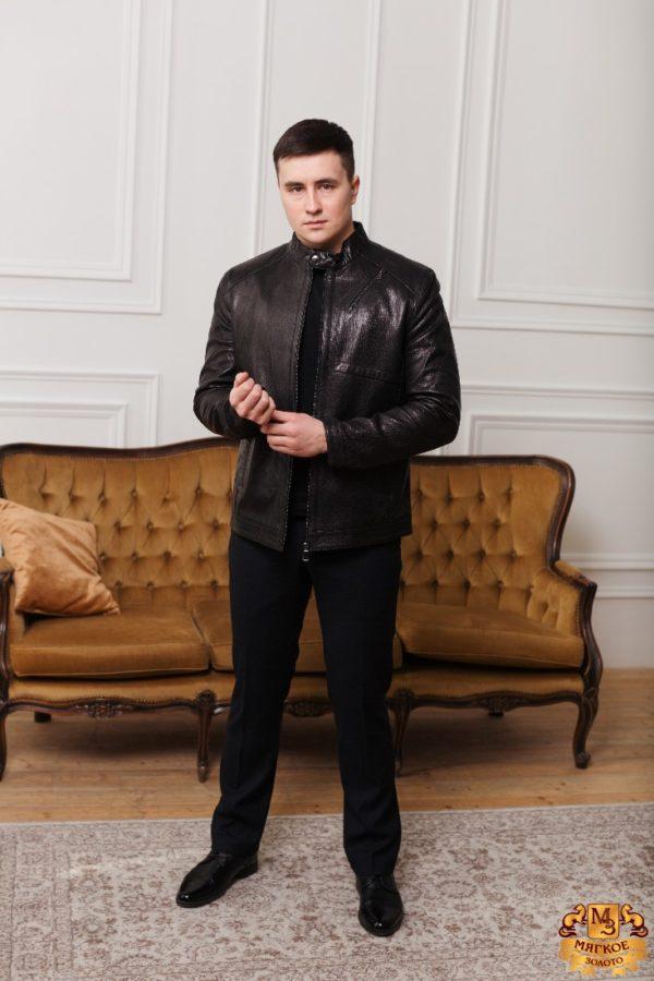 Кожаная куртка коричневая Gio Melli F693