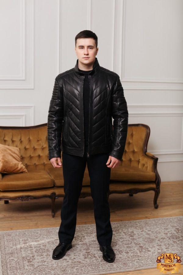 Кожаная куртка коричневая VDV 99689