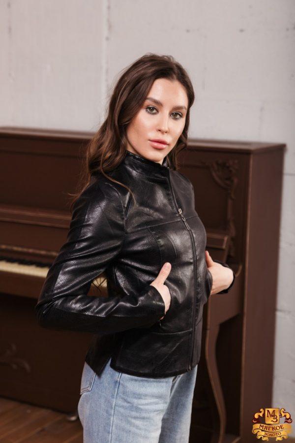 Куртка женская из эко-кожи
